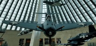 A World War II SBD Dauntless dive bomber at the National Marine Corps Museum royalty free stock photo