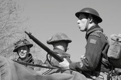 World War II soldiers stock photo