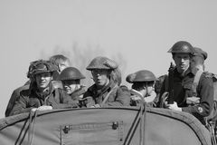 World War II soldiers Royalty Free Stock Photography