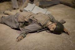 WORLD WAR II soldiers  WAX FIGURE Royalty Free Stock Photography