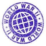 Scratched Textured WORLD WAR II Stamp Seal vector illustration
