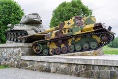 World war II tank monument in Svidnik, Slovakia Stock Image