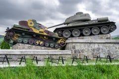World war II tank monument in Svidnik, Slovakia Royalty Free Stock Photos