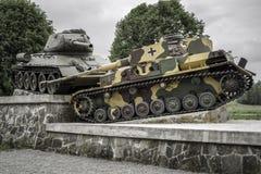 World war II tank monument in Svidnik, Slovakia Royalty Free Stock Image