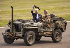 The World War II 75th commemorative parade. The World War II 75th commemorative parade at the 2014 Goodwood Revival, Sussex, UK Stock Images