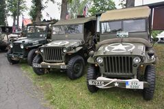 World War II US Army Jeeps Royalty Free Stock Image