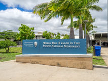 World War II Valor in the Pacific National Monument. OAHU, HI - AUG 5, 2016: World War II Valor in the Pacific National Monument on August 5, 2016 in Pearl Stock Photography