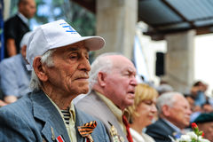 World War II Veterans at the celebration of 9th may Royalty Free Stock Photos