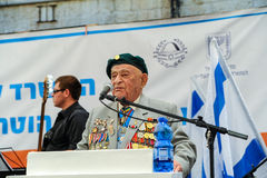 World War II Veterans at the celebration of 9th may Stock Image