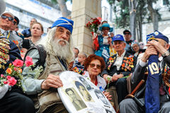 World War II Veterans at the celebration of 9th may Royalty Free Stock Image