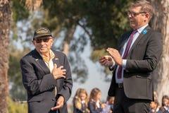 World War II veterans receiving the Legion of Honor stock photo