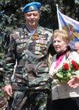World war II Vetrans arrive at Chisinau memorial Stock Photo
