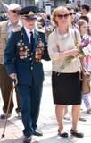 World war II Vetrans arrive at Chisinau memorial Royalty Free Stock Image