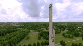 World War II Victory Monument to Soviet Army in Riga, Latvia stock footage