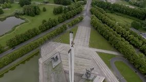World War II Victory Monument to Soviet Army in Riga, Latvia stock video footage