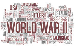 World War II Word Cloud Stock Photography