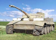World war II wrecked german tank Stock Image
