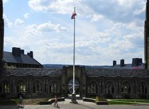 World War 1 Memorial cloister and towers at Cornell royalty free stock photo