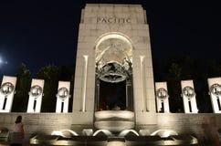 World War  Memorial II at Night Royalty Free Stock Image
