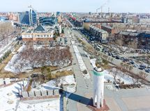 World war 2 Memorial Square. Tyumen. Russia Royalty Free Stock Images
