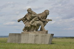 World war monument at Hrabyne, Czech republic Stock Photos