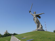 World war monument the Motherland Calls in Volgograd Royalty Free Stock Images