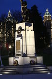 World War Monument in Victoria. War monument illuminated at night Royalty Free Stock Photos