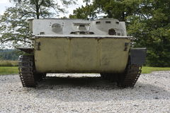 World war museum weapons and tanks Stock Photo