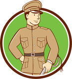 World War One British Officer Circle Cartoon Stock Photos