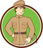 World War One British Officer Circle Cartoon Stock Photos