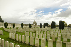 World war one cemetery tyne cot in belgium flanders ypres stock photography