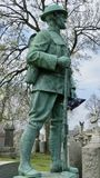 World War One soldier statue royalty free stock photo