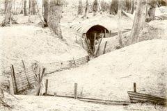 World war one trench belgium flanders. Stock Image