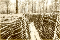 A world war one trench belgium flanders Stock Image