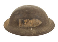 A World War One U.S. Army Doughboy Helmet royalty free stock image