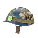 World war and peace helmet Stock Photos