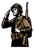 World war soldier Royalty Free Stock Images