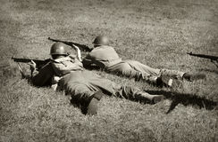 World War 2 soldiers Royalty Free Stock Photo