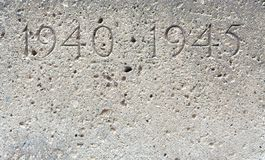 World war stone. A second world war stone Royalty Free Stock Images