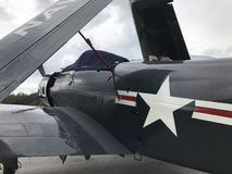 World War Two Airplane, Wings Folded Royalty Free Stock Photo