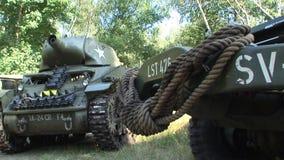 World war two american light tank, reenactment event. The world war two american light tank, reenactment event stock video