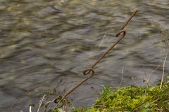 World War two barbed wire and picket post , very rare. Royalty Free Stock Photos