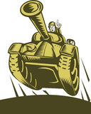 World war two Battle tank. Illustration of a Royalty Free Stock Photography