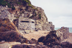 World war two bunker on the coast of Devon, England Stock Images