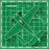 World war two fighter plane blueprint Stock Photo