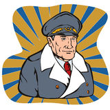 World war two general. Vector art of an military general stock illustration