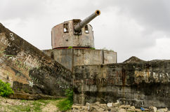 World War Two Guns on Kiribati Royalty Free Stock Images