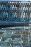 World War Two Memorial Stars Reflection Water Closeup Texture Fr Stock Photography