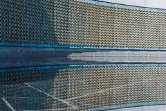 World War Two Memorial Stars Reflection Water Closeup Texture Fr Stock Photos