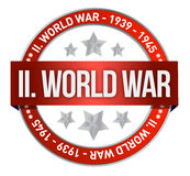 World war two red seal stamp Stock Photo